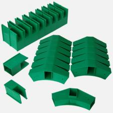 Delta großer Steck-Bausatz 30 Teile Spar Set (grün)