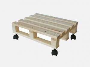 Transporthilfe, Rollwagen als kleine EUR-Palette mit 4 Lenkrollen, Größe: ca. 30 x 40 cm