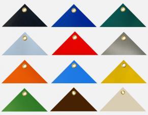 Abdeckplanen, PVC Planen mit Ösen: LKW Plane, Schutzplanen verschiedene Farben, Größe: 2 x 2 m, ca. 700g/qm