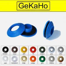Kunststofföse, Stufen-Öse Planenöse, Folienöse, Einfach-Öse 3-tlg. 4-fach-Stufenöse mit Ausgleichsscheibe