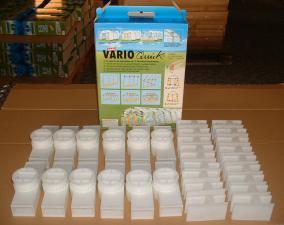 Varioquick großer Steck - Bausatz 30 Teile Spar Set (weiss)