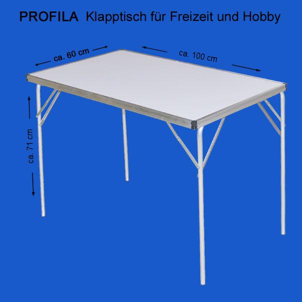 Profila Klapptisch - Einzeltisch, Campingtisch Partytisch Mehrzwecktisch