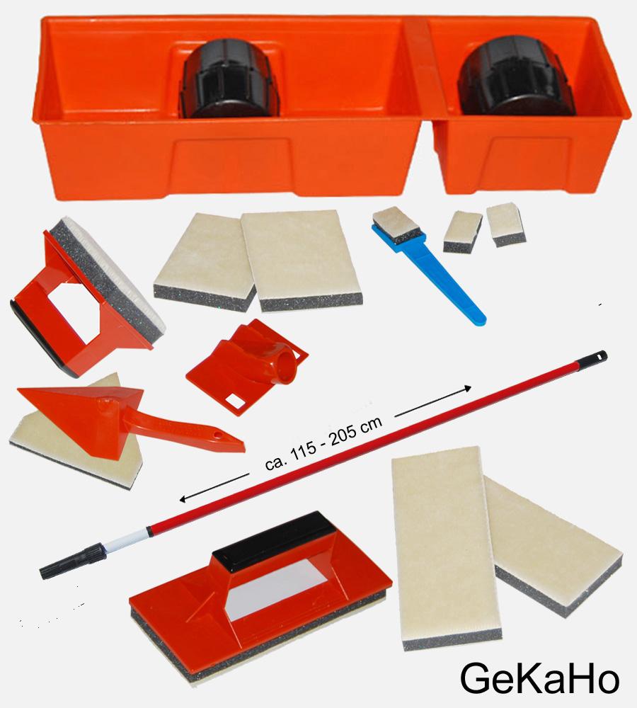 Universalpainter, Brushmaster komplett-Set mit Eckenstreicher + Ersatz Streichkissen + Teleskopstab