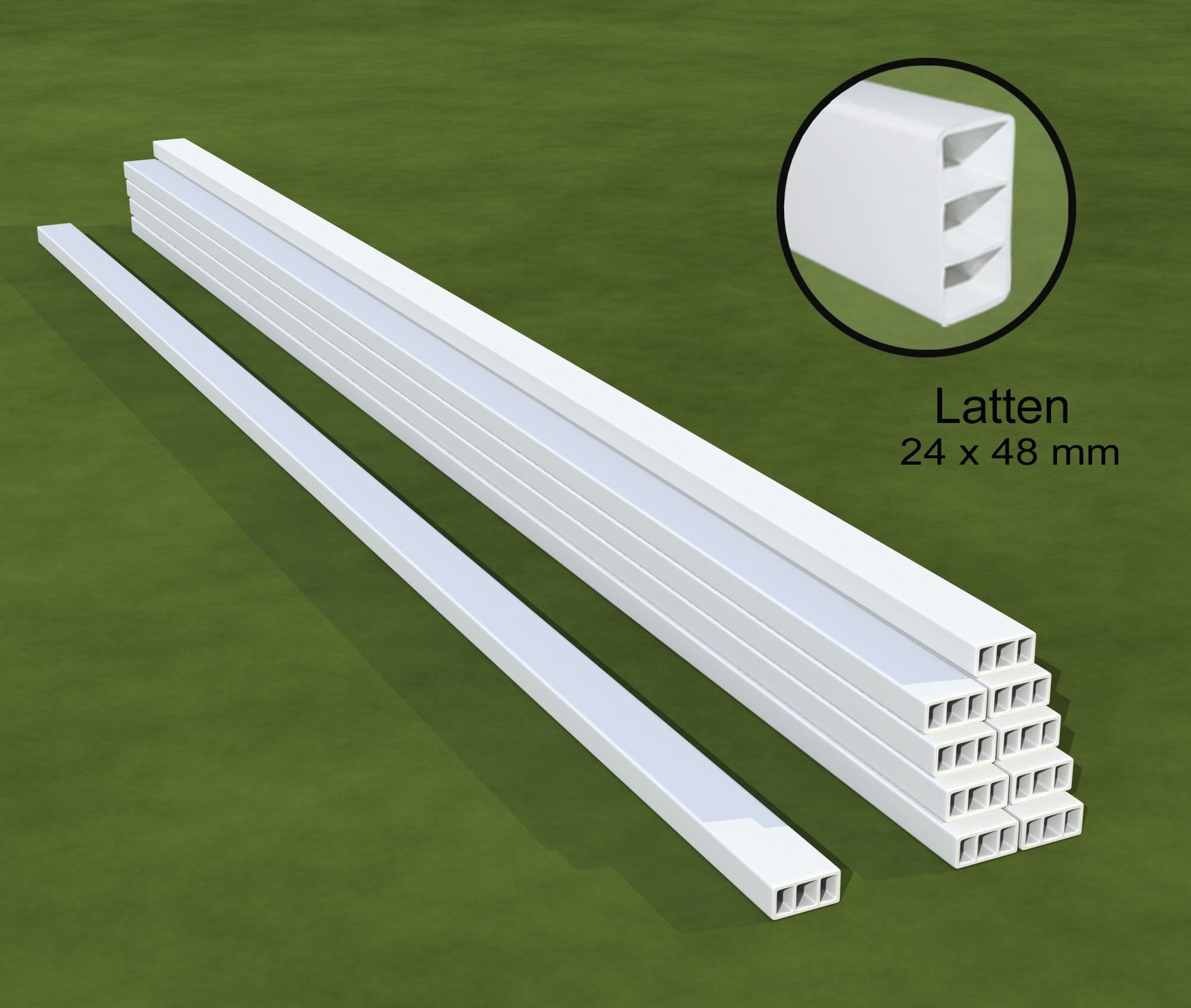 1 Bund Dachlattenprofil aus Kunststoff, 10 Kunststoff Latten 2,00 m lang