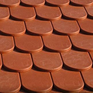 Stabuflex Kunststoff Ziegel Dachziegel Biber-Nachbildung für Dach- und Wandverlegung
