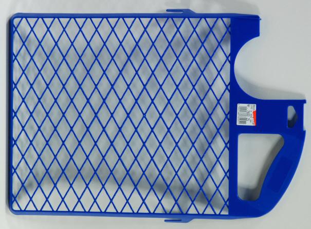 Abstreifgitter Malerzubehör, Farbabstreifgitter 27 x 40 cm, blau