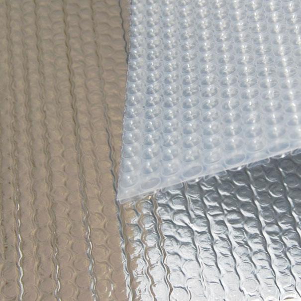 alu beschichtete luftpolsterfolie leichte noppenfolie meterware zuschnitt 1 50 m breit gekaho. Black Bedroom Furniture Sets. Home Design Ideas