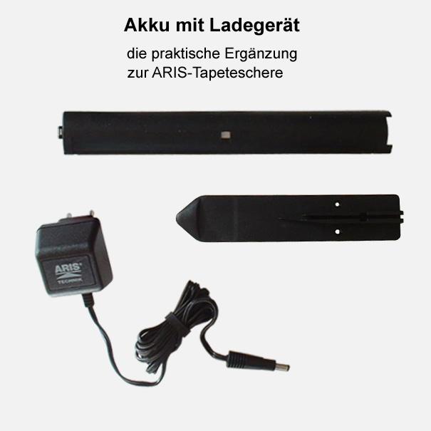 Akku mit Ladegerät für Aris Tapetenschere