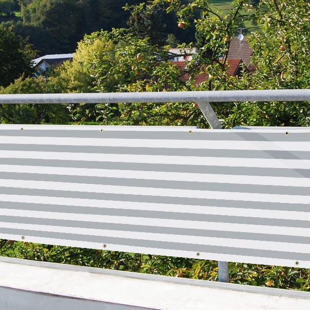 balkonverkleidung balkonumspannung sichtschutz windschutz planen gr e 0 80 x 3 m ca 800g. Black Bedroom Furniture Sets. Home Design Ideas