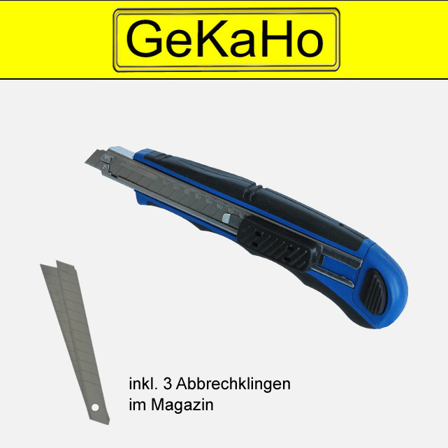 Kleines Cuttermesser mit 9 mm Klingen, Universalmesser, Kartonmesser, Paketmesser[11 1014 00]