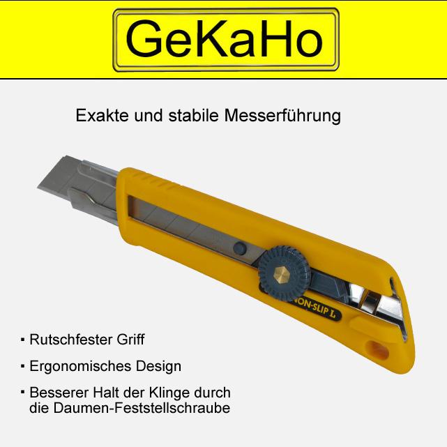 Cuttermesser  Handwerker  Universalmesser, Teppichmesser mit Feststellschraube[11 1013 00]
