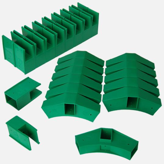 Delta großer Steck-Bausatz 30 Teile Spar Set (schwarz)