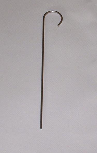 Zelt-Hering mit Haken 20 cm lang, zum Abspannen und Befestigen (20-er Pack)