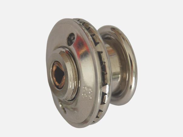Spezial Schnellverschluss / Druckknopf, Oberteil + Unterteil, vernickelt, 20 mm Durchmesser