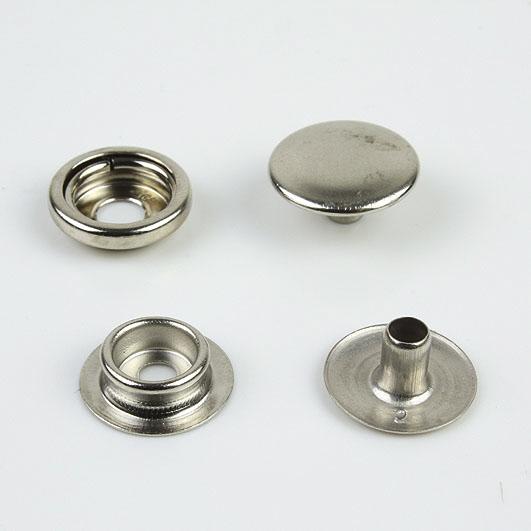 Druckknopf, für Verbindung Stoff Stoffverbindung, vernickelt, 15 mm Durchmesser[06 4001 15 SI]