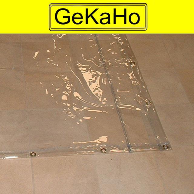 PVC Fensterplane, 600g/qm - Farbe: glasklar - Größe: 0,94 m x 1,80 m ( 2. Wahl)
