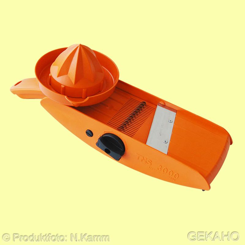 """Gemüsehobel, Küchenhobel TNS 3000 """"all in one"""" Farbe: orange - orange/schwarz"""