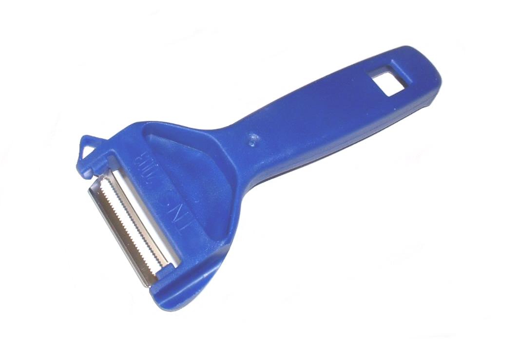 TNS 2003 Sparschäler, Obstschäler, Gemüseschäler: Mit gezackter Klinge Farbe : blau
