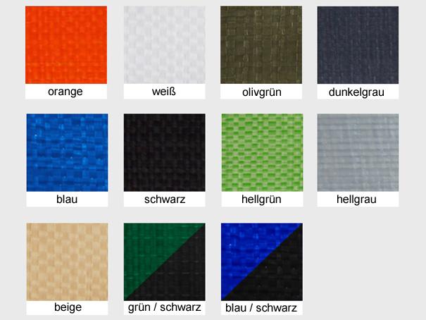 Bändchengewebe aus PE, ca. 200g/m² versch. Farben - Meterware: Zuschnitt 2,00 m breit
