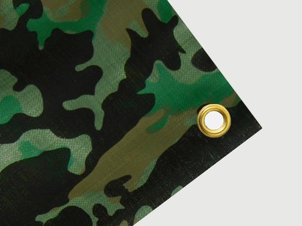 """Tarnplane mit Ösen: Gewebeplane, Abdeckplane, Schutzplane Farbe: Oberseite Militär \""""Camouflage\"""" Unterseite oliv. Größe: 4 x 10 m, ca. 200g/qm"""