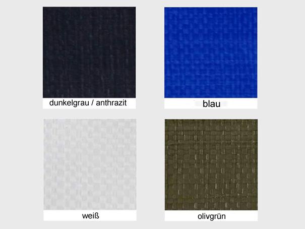 Bändchengewebe aus PE, ca. 270g/m² versch. Farben - Meterware: Zuschnitt 2,00 m breit