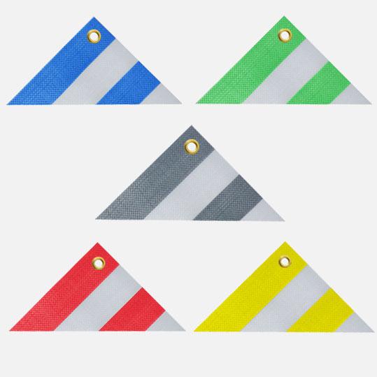 Gewebeplane, Abdeckplane, Schutzplane versch. Farben, gestreift, Planen Größe: 4 x 5 m, ca. 270g/qm