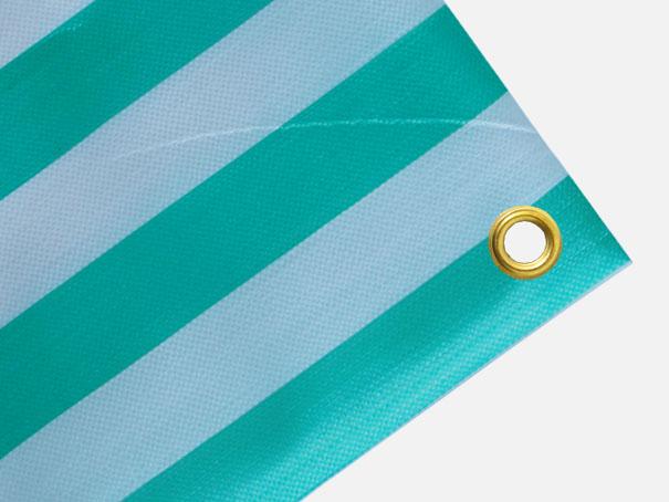 Balkonplane, schmale Abdeckplane ca. 270g/qm - Farbe: grün-weiss - Größe: 0,70 x 3,00 m (2. Wahl)