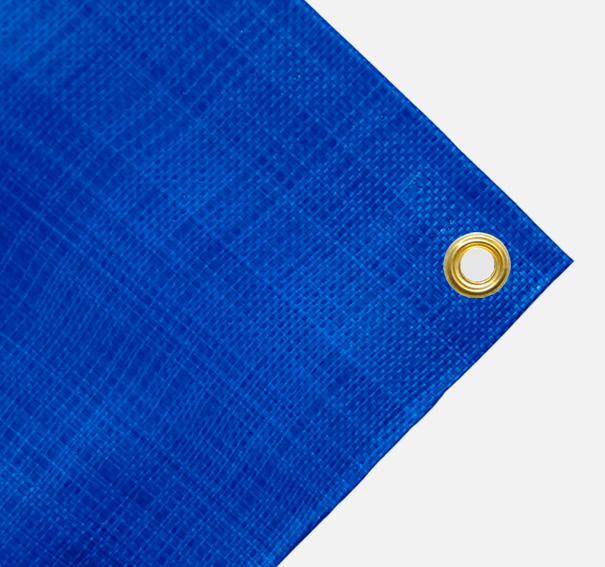Gewebeplane, Abdeckplane ca. 270g/qm - Farbe: blau - Größe: 1,90 x 3,00 m (2. Wahl)
