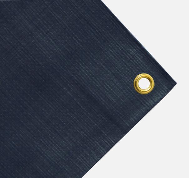 Gewebeplane, Abdeckplane ca. 200g/qm - Farbe: dunkelgrau - Größe: 1,55 x 2,00 m (2. Wahl)