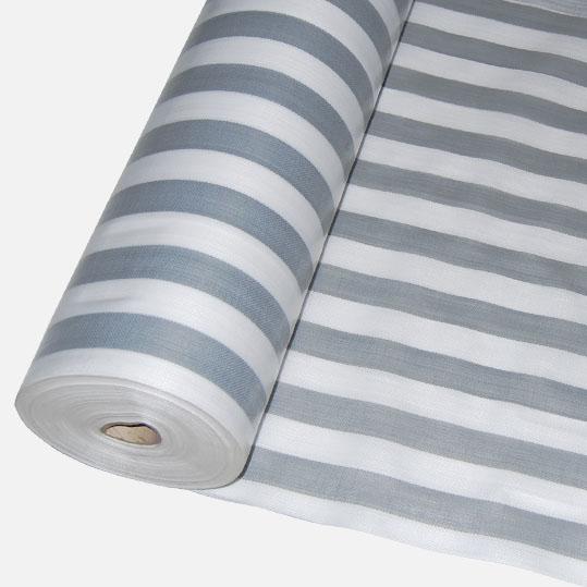 Bändchengewebe aus PE, ca. 270g/m² versch. gestreifte Farben - Meterware: Zuschnitt 2,00 m breit