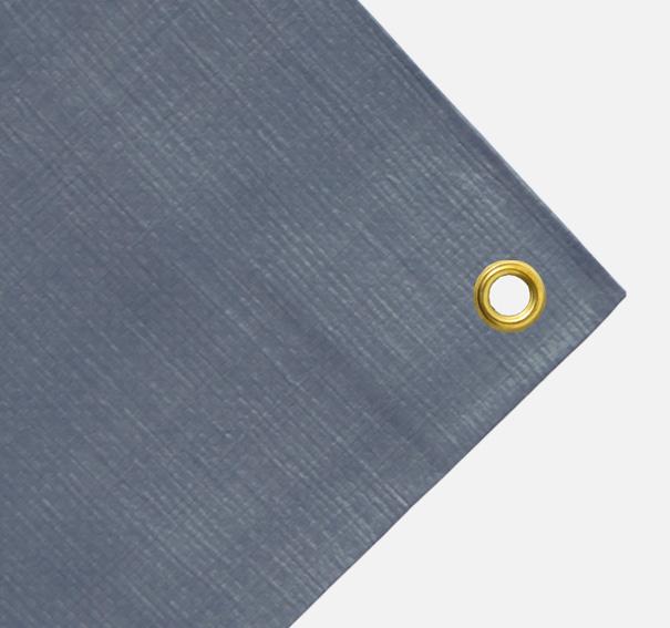 Balkonverkleidung oder schmale Abdeckplane ca. 270g/qm - Farbe: grau - Größe: 0,70 x 2,30 m (2. Wahl)