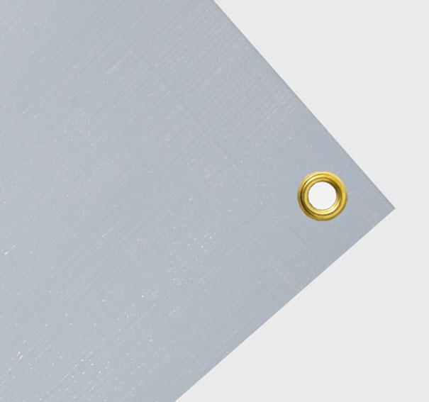 Gewebeplane, billige Abdeckplane ca. 200g/qm - Farbe: hellgrau - Größe: 1,65 x 1,10 m (2. Wahl)