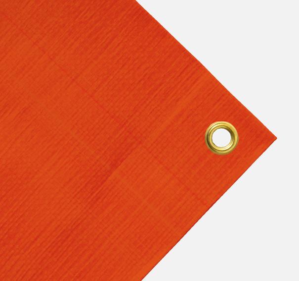 Gewebeplane, Abdeckplane ca. 200g/qm, Farbe: orange, Größe: 1,90 x 6,00 m (2. Wahl)