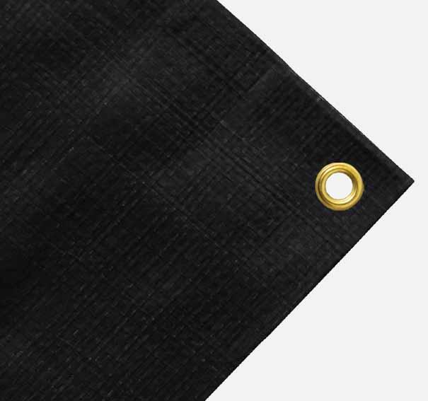 Balkonverkleidung oder schmale Abdeckplane ca. 200g/qm - Farbe: schwarz - Größe: 0,70 x 6,00 m (2. Wahl)