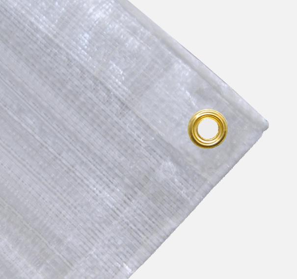 Balkonverkleidung oder schmale Abdeckplane ca. 270g/qm - Farbe: weiss - Größe: 0,70 x 2,50 m (2. Wahl)