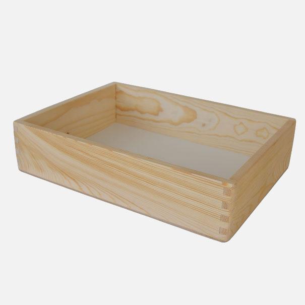Holzkiste, Größe 1, gezinkt aus Nadelholz ca. 30 x 40 x 10 cm[20 1000 GR 1]