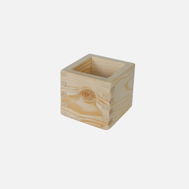 Holzkiste, Größe 3, gezinkt aus Nadelholz ca. 10 x 10 x 10 cm[20 1000 GR 3]