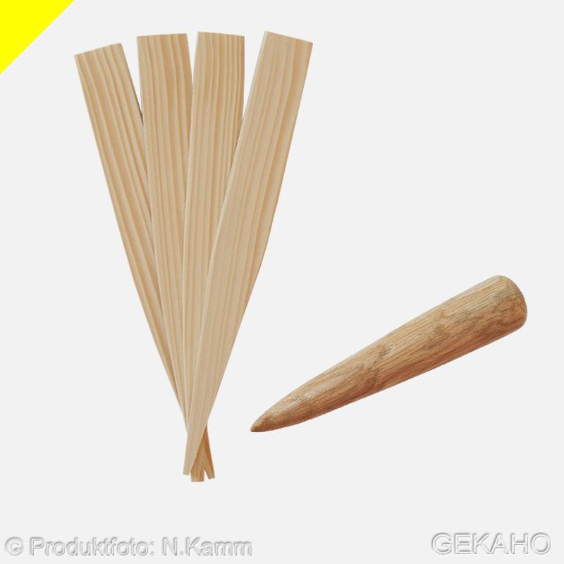 Pflanzholz, Pflanzer, Setzholz, Pikierholz, Pflanzhilfe für Aussaat von Samen + 10 Pflanzetiketten