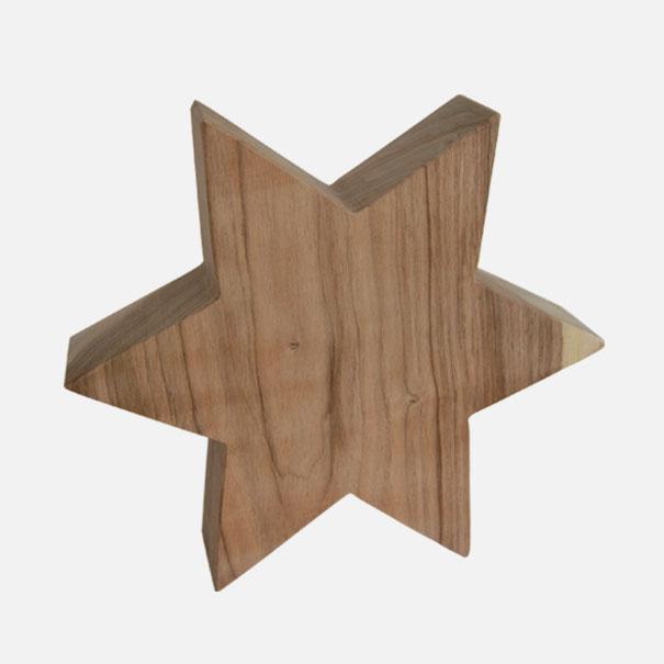 gro er stern aus nussbaumholz natur ca 25 x 6 cm gekaho. Black Bedroom Furniture Sets. Home Design Ideas