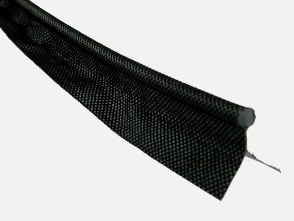 Zeltkeder, 7,5 mm Meterware von der Rolle Farbe: schwarz