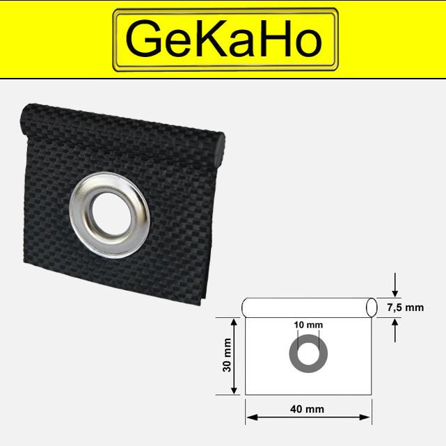 Kederöse schwarz für Kederschiene 7,5 mm zur Befestigung am Wohnwagen + Wohnmobil