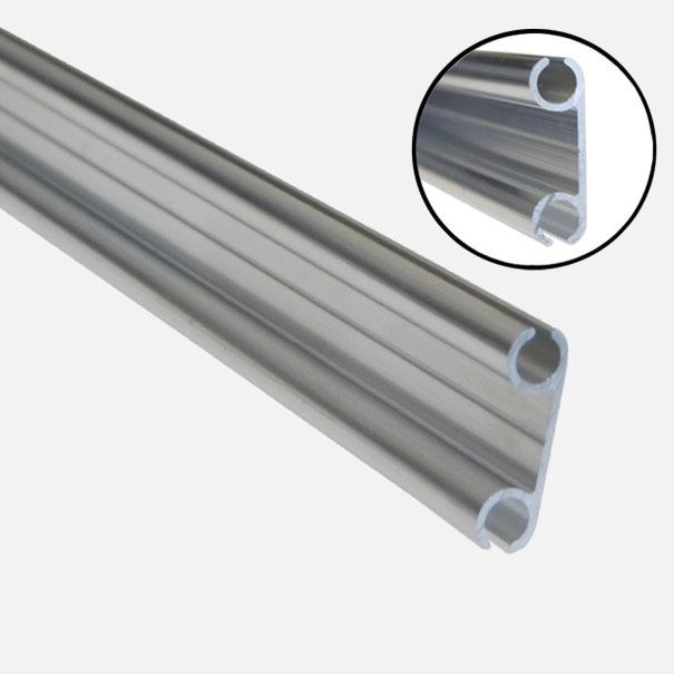 Doppel-Kederschiene 1,50 m lang, für Zeltkeder 7,5 mm