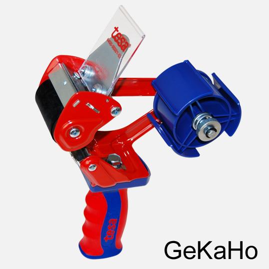 Handabroller, Klebebandabroller, Abroller für Packbänder bis 50 mm, stabile Metallausführung