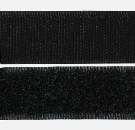 klett klettverschluss klettband von der rolle farbe schwarz 1 laufmeter gekaho. Black Bedroom Furniture Sets. Home Design Ideas