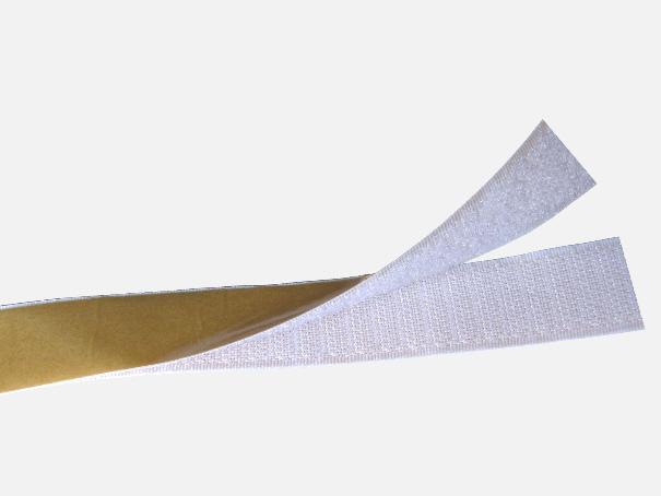 Klett, Klettverschluss, Klettband, von der Rolle Farbe: weiß (1 Laufmeter)