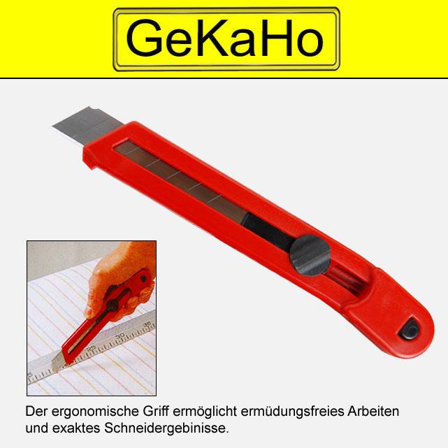 Cuttermesser 18mm, Universalmesser, Teppichmesser, Kartonmesser, Paketmesser