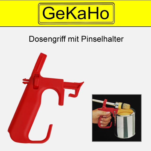 Dosengriff mit Pinsel Halterunng und Deckelheber für Farbdosen, rot[99 0009 00]