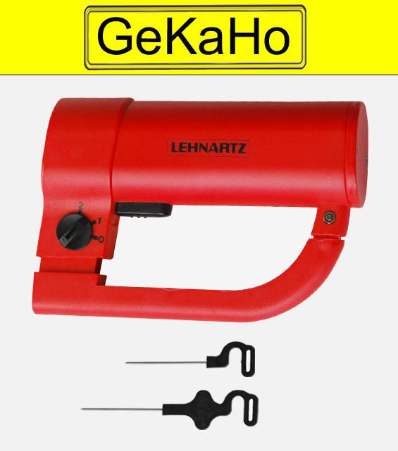 """""""Lehnartz"""" Tapetenschere, 1 elektr. Tapezierschere + 2 x Set mit Ersatznadeln"""