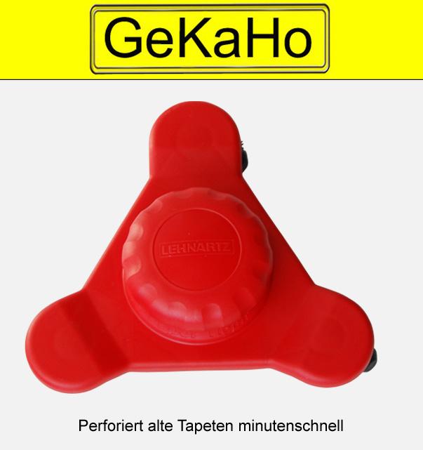 """""""Lehnartz"""" Tapetentiger, groß, dreieckig, """"Turbo"""" mit 3 Aufrauh-Köpfen, inkl. 3 Set Ersatzklingen. Tapetenentferner, Tapeten aufrauhen"""