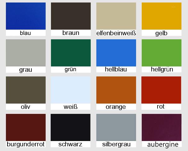 Abdeckplanen, PVC Planen mit Ösen: LKW Plane, Schutzplanen verschiedene Farben, Größe: 1,5 x 4 m, ca. 700g/qm